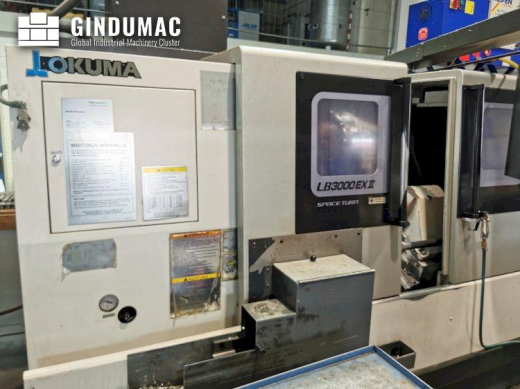 This Okuma LB3000ll EX MC 1000 Lathe was made in the year 2014 in Japan. This machine has 21010 prod