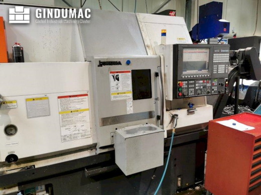 This Okuma GENOS L200E-MY Lathe was built in Taiwan in 2014. It has a production record of 23768 hou