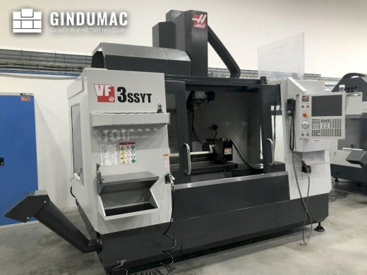 This HAAS VF-3 SSYT vertical machining center was manufactured in the United States in the year 2019
