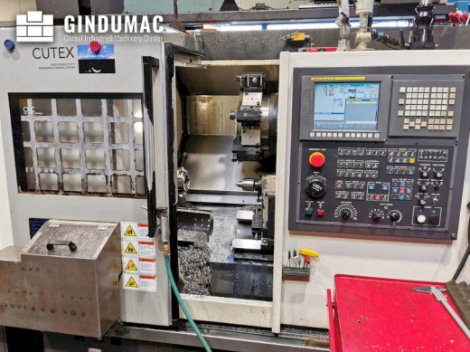 This HWACHEON CUTEX 160B MC Lathe was manufactured in 2013 in Korea. It has 25948 production hours,