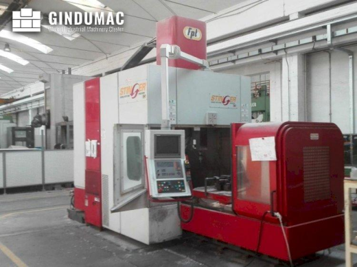 This FPT Stinger Milling Machine was built in 2005 in Italy. It is equipped with a Heidenhain TNC 53