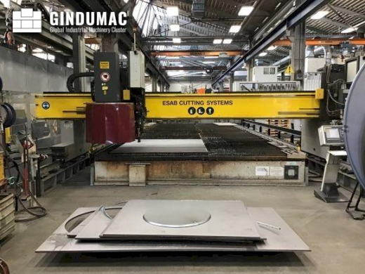 This ESAB NXB 6500 Plasma Cutting Machine was manufactured in the year 2007. It works with a cutting