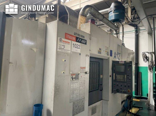 This Mazak FF-660 Horizontal Machining Center was manufactured in 1999 in Japan. It is equipped with