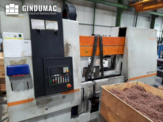 This KASTO tec A 4 Sawing Machine was manufactured in the year 2001. It is equipped with a control u