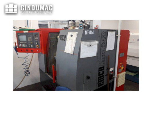 This EMCO EMCOTURN 342 Lathe was made in 1993 in Austria. It is equipped with a SIEMENS SINUMERIK co