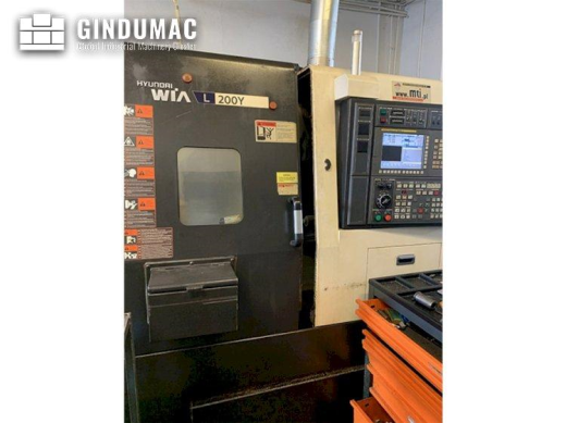 This Hyundai Wia L200Y Lathe was manufactured in the year 2013 in Korea. It is operated through a FA