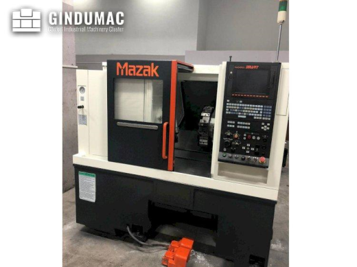 This Mazak Quick Turn Smart 100 S lathe was manufactured in 2011. This 2 axis is equipped with a MAZ
