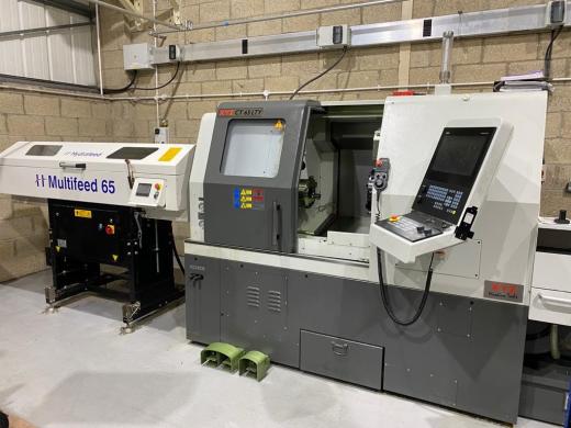 XYZ CT65LTY CNC lathe with Hydrafeed Bar Feeder, 2019, STP20123, Siemens 828D shopturn control, 200m