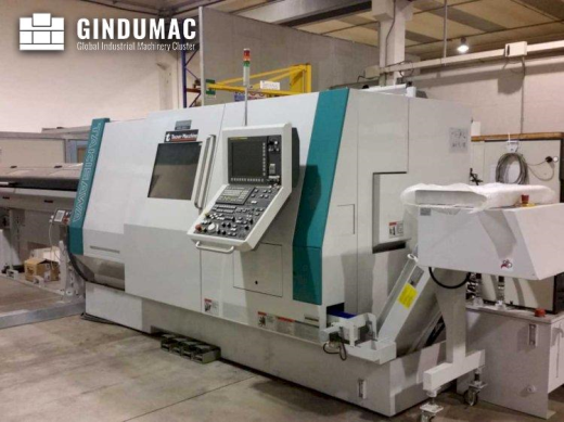 This Takisawa TMMY-250 M1 Lathe was built in the year 2015 in Japan. It has a total of 11285  workin