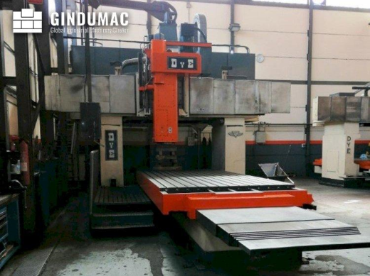 This DYE FPF-2-C-NC Milling machine was built in 1986 and has been retrofitted in 1998. It operated