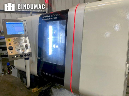 This DMG GILDEMEISTER SPRINT 42 linear Lathe was made in Italy in the year 2011. It has a production