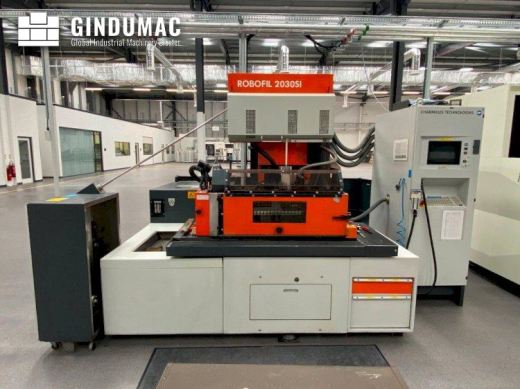 This CHARMILLES ROBOFIL 2030SI Erosion Machine was built in Switzerland in the year 2000. It has a p