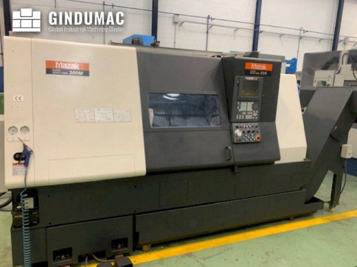 This Mazak SQT 300M Lathe was made in the year 2003. It is equipped with a Mazatrol 640 T control un