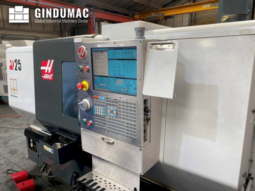 This HAAS ST-25 Lathe was manufactured in the United States in 2014. It is equipped with a control u