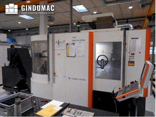 This AgieCharmilles Mikron HPM 450U Vertical Machining Center was manufactured in 2013 and has appro