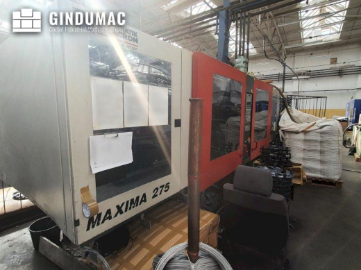 This FERROMATIK MILACRON MAXIMA MV 275 Injection Moulding Machine was manufactured in the year 2003.