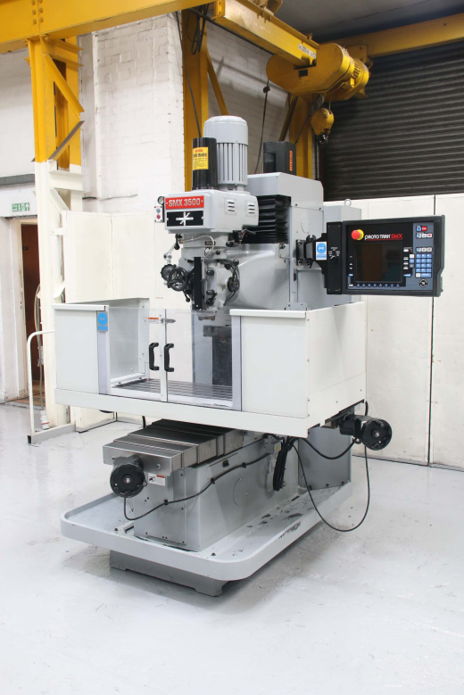 XYZ SMX 3500 Bed Milling Machine (Bedmill) ProtoTRAK   SMX Control 3 Axis CNC Capacity Spindle Ta