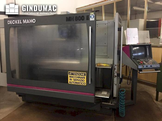This DECKEL MAHO MH800E Vertical machining center was manufactured in Germany in 1997. It is equippe