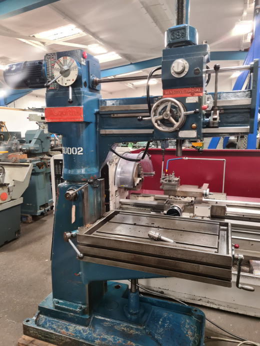 ASQUITH 38S RADIAL ARM DRILL 3 MT Spindle : 18 Speeds 66 - 1660 rpm : 38