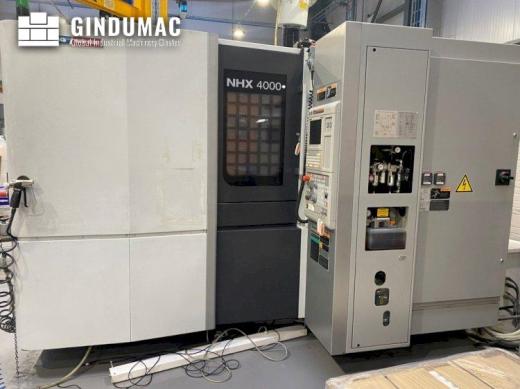 This DMG Mori Seiki NHX4000 Horizontal machining center was built in Japan in 2013. It shows 29581 h