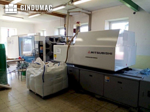 This Mitsubishi 450 ME II-70 Injection moulding machine was made in Japan in 2005. It shows 24775 ru