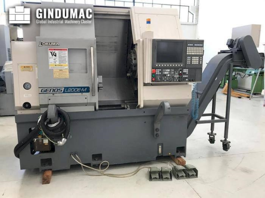 This Okuma Genos L200E-MY CNC Lathe was built in the year 2015. It is equipped with a control unit o