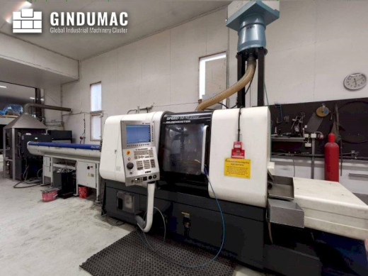 This Gildemeister Speed 32-10 linear Lathe was manufactured in Italy in 2010. It has 31100 productio