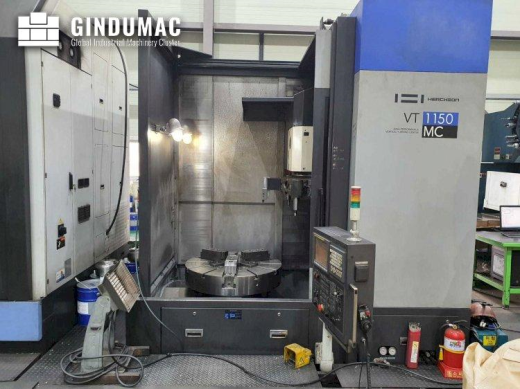 This HWACHEON VT 1150 MC Vertical Lathe was made in the year 2011. It has been on for 10886 hours, o