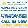 If you have machinery you no longer use, please send details of the machine(s), along with any photos for our consideration to sales@electromotion.co.uk