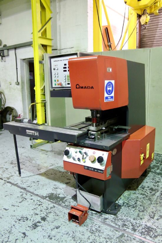 Amada SP 30 II Punch Press With Amadan SS104 2 Axis Gauge ...