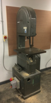 Speedax 16 Vertical Bandsaw, 19-1400RPM, 3 Phase, 20mm Wide Blade, Emergency Foot Stop,
