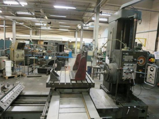 85mm Spindle. Table size 1200mm x 1200mm. Wizard 2 axis DRO. 2 angle plates. , Serial No. 35679, Loc
