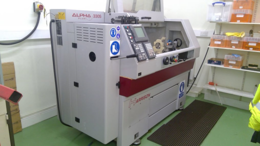 Immaculate 600 Group Harrison Alpha 330 S plus CNC lathe from Medical supplier