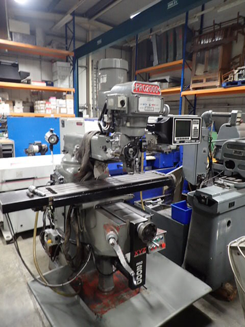 XYZ PRO2000, Prototrak MX2 2 Axis Control, 1997, s/n 8004, Table size 1270 x 254mm. Trav 762 x 406 x