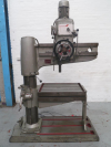 Radial Drill with T slotted rise and fall table.