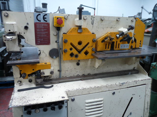 Manufacturer  Geka Model  Minicrop 45 tonne 5 station hydraulic steelworker Punches  27 mm D