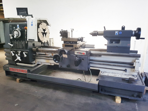 760mm Swing x 1500mm Between Centres : Spindle bore 168mm :  20 Speeds 10 – 800 rpm : Double Chuck –