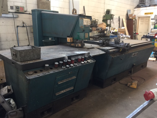 ONE USED AMADA D750, SINGLE ENDED PUNCH, 30TON CAPACITY (6mm MILD STEEL), TEMPLATE 750x1100mm, 200 S