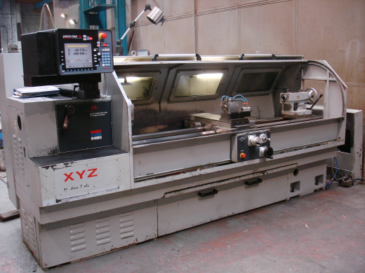 with Proto trak VL control. Swing 480 mm x 2000 mm b.c. Spindle Bore 80 mm £POA