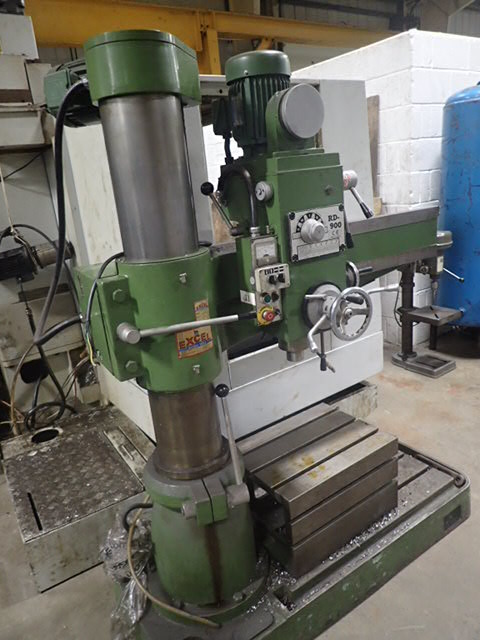 Excel RD 900 Radial Arm Drill, 1998, s/n 3987, drill capacity - cast iron 50mm, steel 38mm, spindle