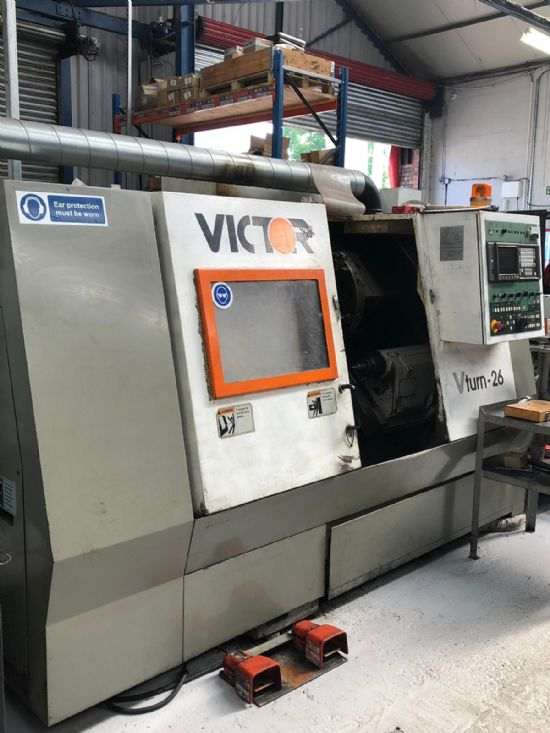 Victor V Turn 26 Cnc Slant Bed Lathe 12in Chuck For Sale