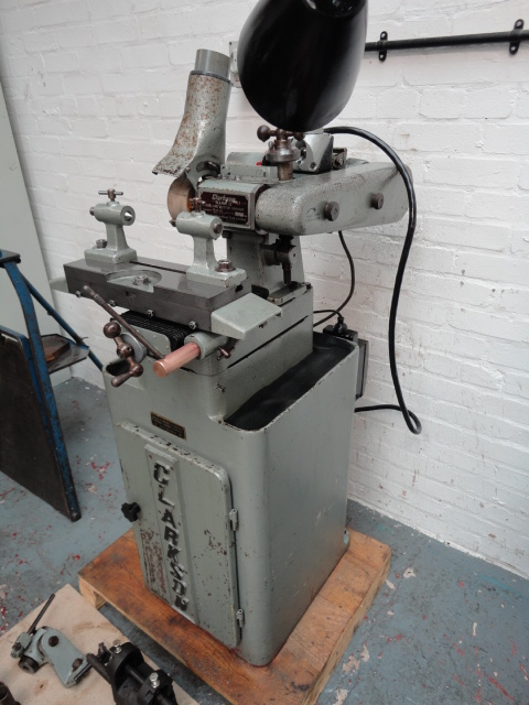 """Clarkson MK11 Tool & Cutter Grinder S/N MT 967 Capacity 12"""" x 6"""" Swivel Table 333 x108 mm Univer"""