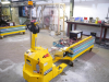 4000 kg electric power tug with dox-x 2000 kg scissor lift table