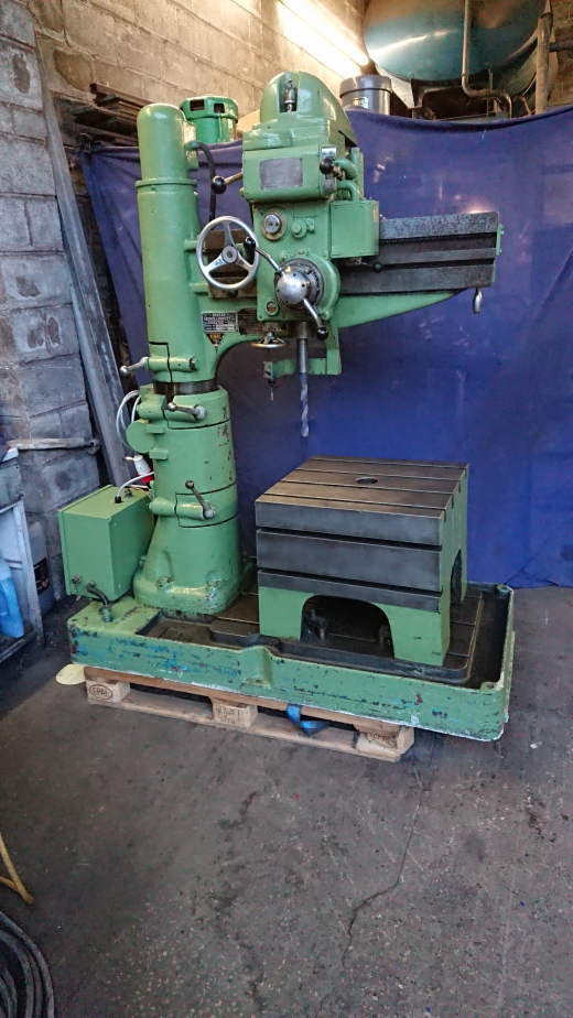 Adcock & Shipley radial arm drill.