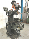 Turret Miller, with power long and cross feed, slotting attachment and machine vice