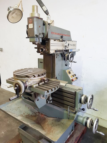 THIEL 150 UNIVERSAL TOOLROOM MILL 40 Int. Horzontal & Vertical Spindles : 16 Speeds 40 - 2000 rpm :