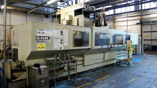 MAKESNK, MADE IN JAPAN MODELFSP-120 V, 5 AXES  CONTROLFANUC 16M YEAR1999/2000 NUMBER OF AXES
