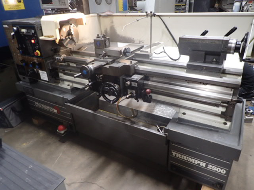 Colchester Triumph 2500VS x 1250mm Gap Bed Lathe, 1995, s/n VT0712, Imperial Ainjest, dro, 3 & 4 jaw