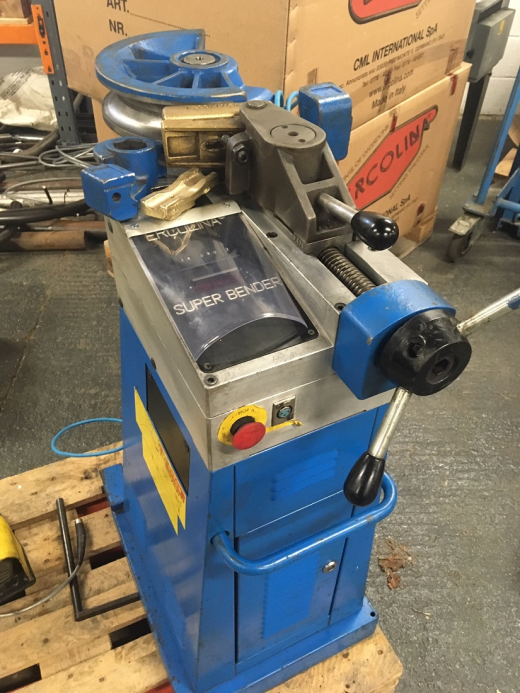 Used Ercolina Tube Bender 48mm capacity in stock with tooling can be seen working