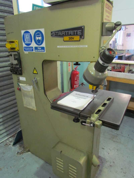 Startrite 20V Vertical Band Saw Throat size 500mm, Table size 530mm, Welder. S/No. 11343...........£